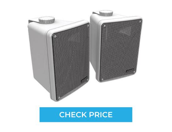 Kicker 2-Way Full-Range Indoor Outdoor Marine Speakers